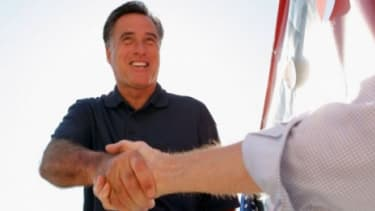 Mitt Romney is jumping on the Tea Party train in the hopes of bringing the small-government voters over to his camp.
