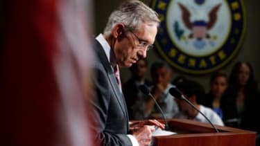 Harry Reid's ad campaign suggests that Sharron Angle is soft on domestic violence.