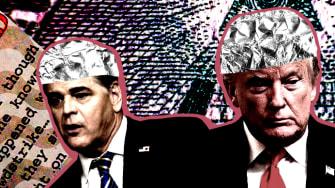 President Trump, Devin Nunes, and Sean Hannity.