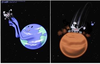 Editorial Cartoon U.S. perseverance mars nasa