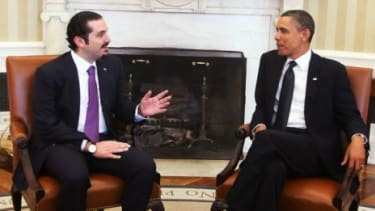 At a White House visit this week, President Obama offered his support to embattled Lebanese Prime Minister Saad Hariri.