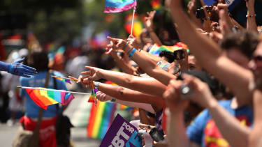 Boy Scouts marched in New York's gay pride parade for the first time