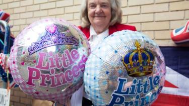Royal baby balloons