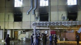 Hospital fire in Iraq.