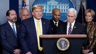Trump and his coronavirus task force