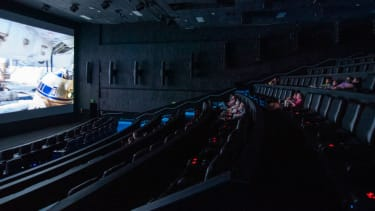 Movie goers watch a film at the AMC Highlands Ranch 24 on August 20, 2020 in Highlands Ranch, Colorado.