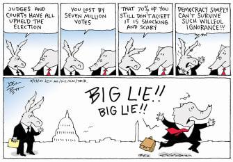 Political Cartoon U.S. gop big lie
