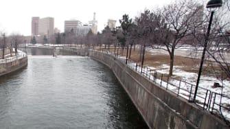 The Flint River.