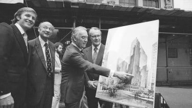 From left: Donald Trump; Mayor Ed Koch of New York; Carey; and Robert T. Dormer, executive vice president of the Urban Development Corp
