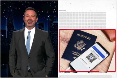 Jimmy Kimmel on vaccine passports