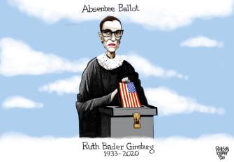 Editorial Cartoon U.S. Ruth Bader Ginsburg RIP