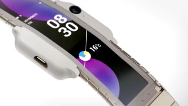 A wearable smartphone.