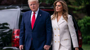President Trump and first lady Melania Trump.