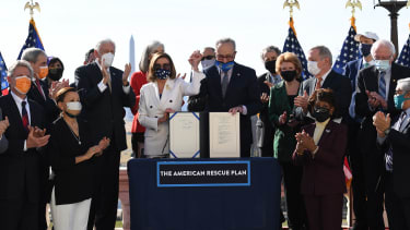 Signing the American Rescue Plan Act