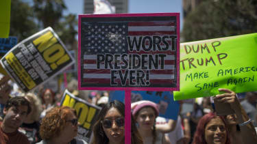 An impeachment march in L.A.
