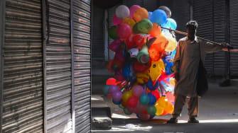 A balloon vendor.