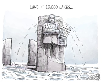 Editorial Cartoon U.S. mlk minnesota daunte wright george floyd