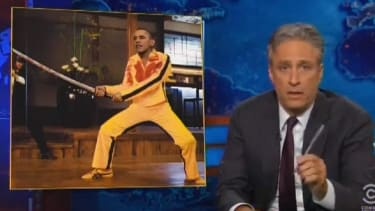 Jon Stewart doesn't like the 'Crusade-y vibe' of Obama's coalition against ISIS