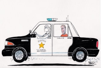 Editorial Cartoon U.S. chauvin verdict george floyd