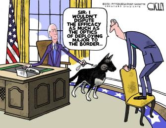 Political Cartoon U.S. biden border major