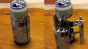 It's a beer can. It's a robot. It's a… CanBot. This homemade prototype that hails from Japan may be the most cleverly geeky way to freak out your beer-guzzling buddies.