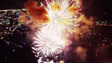 Marvel at this magical drone's-eye view of fireworks
