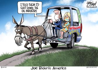 Political Cartoon U.S. Biden oil