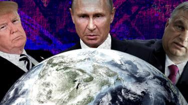 President Trump, Vladimir Putin, and Viktor Orban.