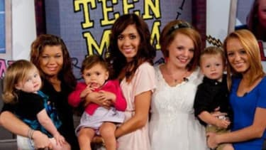 """First came """"16 and Pregnant"""" and then """"Teen Mom"""" where young stars like Amber Portwood (L) reportedly earn $60,000 per season."""
