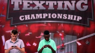 The final round of the LG Mobile U.S. National Texting Championships