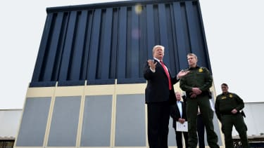 President Donald Trump and his wall.