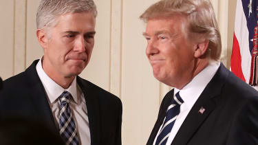 Judge Neil Gorsuch and President Donald Trump.