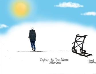 Editorial Cartoon U.S. tom moore rip