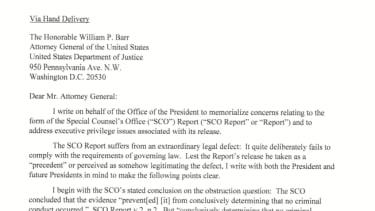 White House letter.
