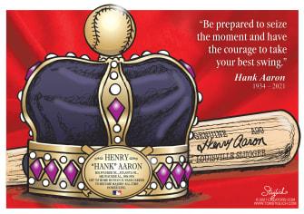 Editorial Cartoon U.S. RIP Hank Aaron