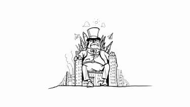 A corporate caricature.