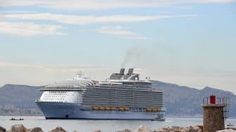 The Harmony of the Seas ship.