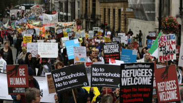 Protest for refugees.