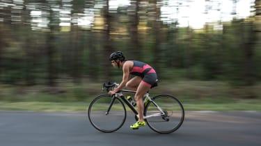 Cycling woman.