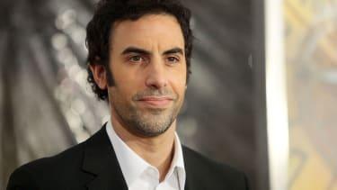 "Sacha Baron Cohen attends the ""Hugo"" premiere at the Ziegfeld Theatre on November 21, 2011 in New York City."
