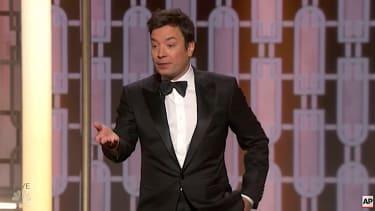 Jimmy Fallon cracks jokes at Golden Globes