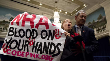 An anti-gun protester.