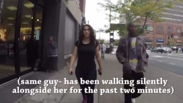 This is what it's like to walk down the street alone as a woman