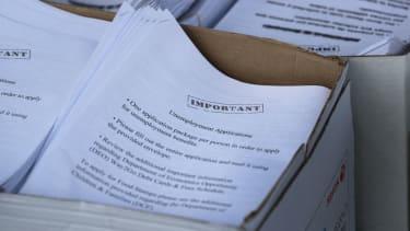 Unemployment benefit form.