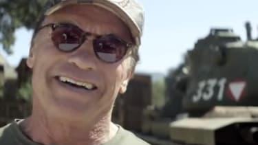 Arnold Schwarzenegger invites you to crush stuff in his tank