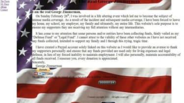 TheRealGeorgeZimmerman.com was created by the Florida neighborhood watchman who shot Trayvon Martin.