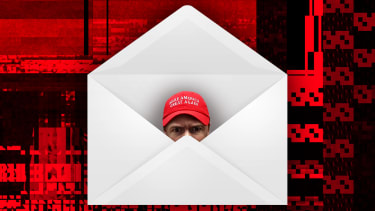 A guy in an envelope.