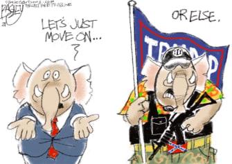 Political Cartoon U.S. GOP Trump impeachment capitol riot
