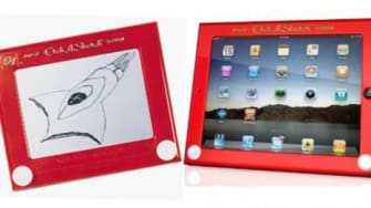The Etch A Sketch was all the rage for kids in the 1960s. Today the drawing toy resurfaces as a must-have iPad case.