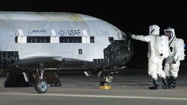 The U.S. Air Force's top-secret X-37B space plane lands on California coast